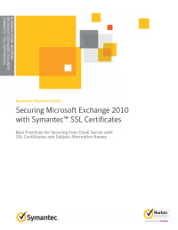 Securing Microsoft Exchange 2012 with Symantec SSL Certificates