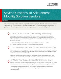 Seven Questions to Ask Content Mobility Solution Vendors