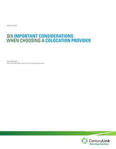 Six Important Considerations when Choosing a Colocation Provider