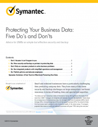 Protecting your business data: Five Dos and Don'ts for SMBs