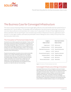 The Business Case for Converged Infrastructure