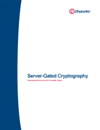 Server-Gated Cryptography