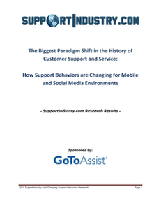 How Support Behaviors are Changing for Mobile and Social Media Environments