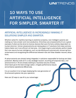 10 Ways to Use Artificial Intelligence for Simpler, Smarter IT