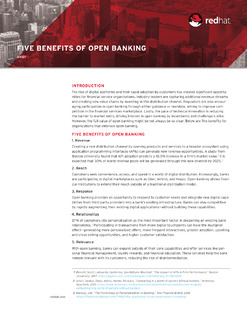 Five Benefits of Open Banking