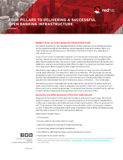 Four Pillars to Delivering a Successful Open Banking Infrastructure