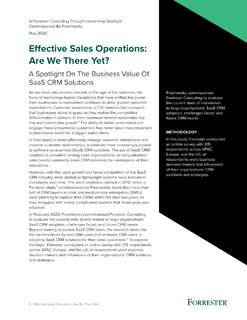 Effective Sales Operations: Are We There Yet?