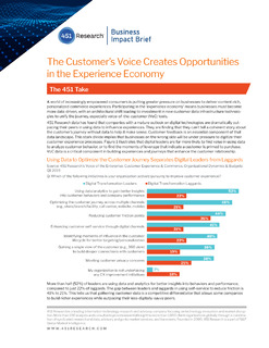 The Customer's Voice Creates Opportunities in the Experience Economy