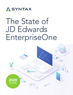 The State of JD Edwards EnterpriseOne: Building a Better ERP User Experience