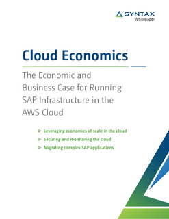 The Economic and Business Case for Running SAP Infrastructure in the AWS Cloud