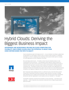 CIO Mag: Hybrid Clouds: Deriving the Biggest Business Impact