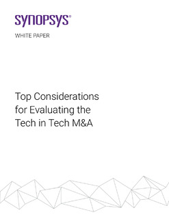 Top Considerations for Evaluating the Tech in Tech M&A