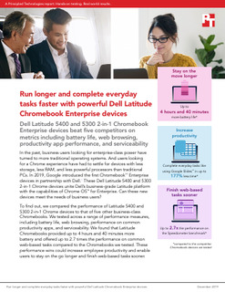 Run longer & complete everyday tasks faster with Dell Latitude Chromebook Enterprise devices
