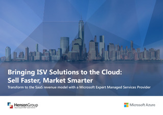 Bringing ISV Solutions to the Cloud: Sell Faster, Market Smarter