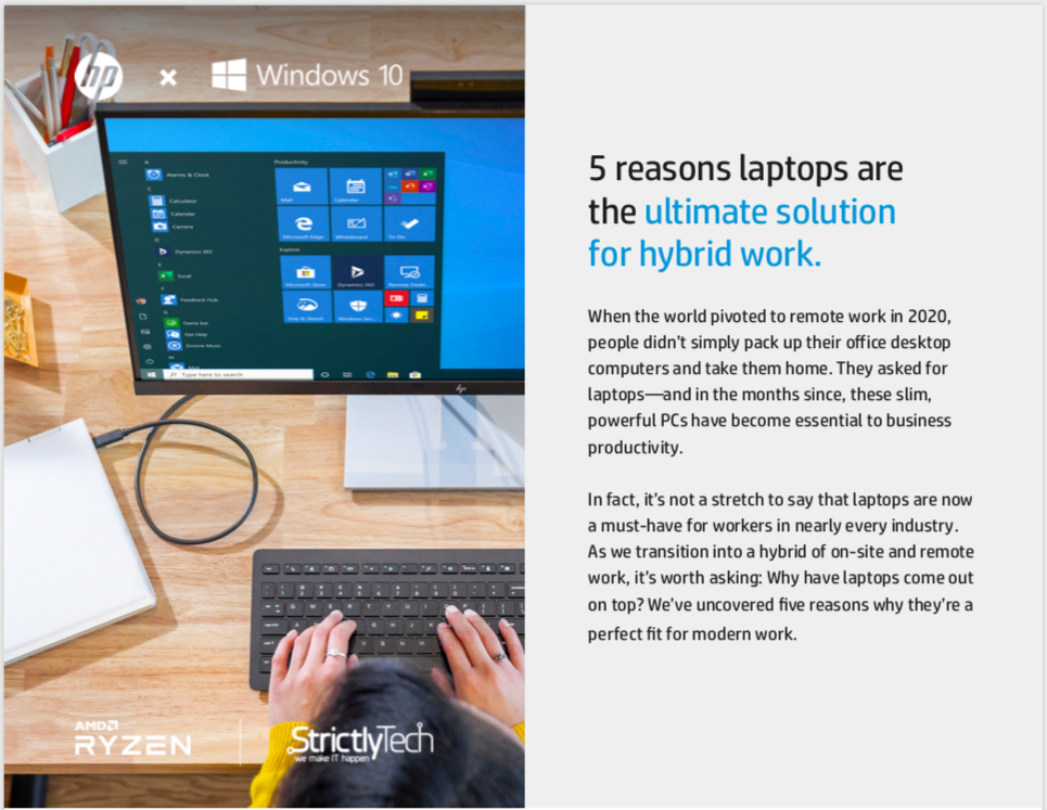 5 reasons laptops are the ultimate solution for hybrid work.