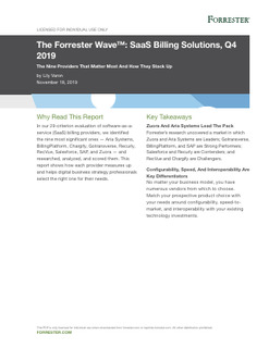 The Forrester Wave™: SaaS Billing Solutions, Q4 2019