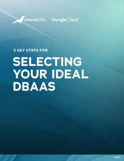 5 Key Steps For Selecting Your Ideal DBaaS