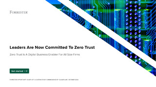 Leaders Are Now Committed To Zero Trust