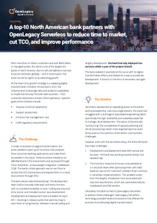 Top 10 Bank Reduces Time-to-Market, Lowers TCO, and Improves Performance with Serverless