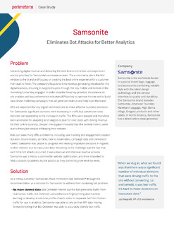 Samsonite Eliminates Bot Attacks for Better Analytics
