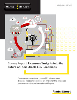 Survey Report: Licensees' Insights into the Future of Their Oracle EBS Roadmaps