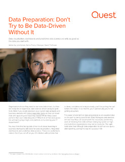 Data Preparation: Don't Try to Be Data-Driven Without It