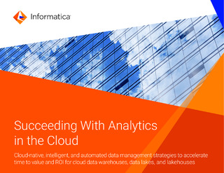 Succeeding With Analytics in the Cloud