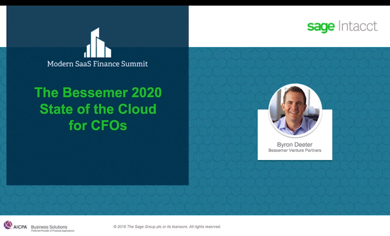 The Bessemer 2020 State of the Cloud for CFOs