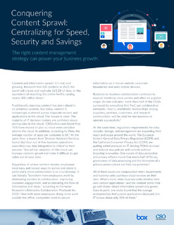 Conquering Content Sprawl: Centralizing for Speed, Security and Savings