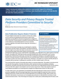 Data Security and Privacy Require Trusted Platform Providers Committed to Security