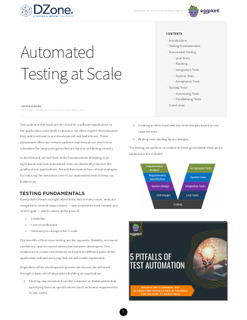 Automated Testing at Scale