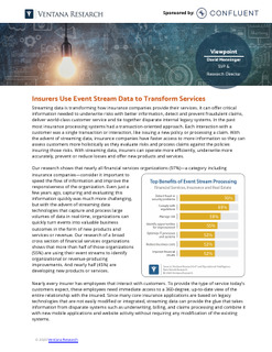 Insurers Use Event Stream Data to Transform Services
