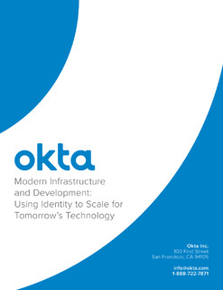 Modern Infrastructure and Development: Using Identity to Scale for Tomorrow's Technology