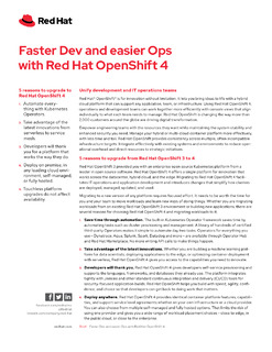 Faster Dev and easier Ops with Red Hat OpenShift 4