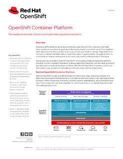 OpenShift Container Platform – The Leading Enterprise, Hybrid Cloud Kubernetes Application Platform