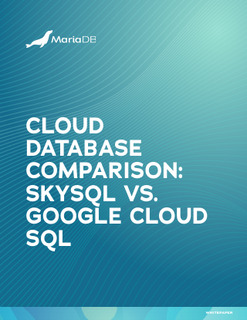 Cloud Database Comparison: SkySQL vs. Google Cloud SQL
