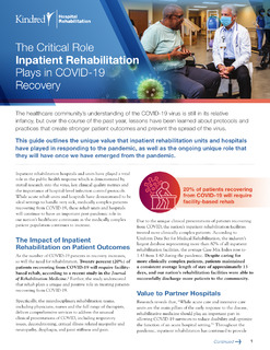 The Critical Role Inpatient Rehabilitation Plays in COVID-19 Recovery