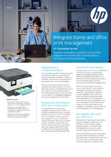 Integrate home and office print management