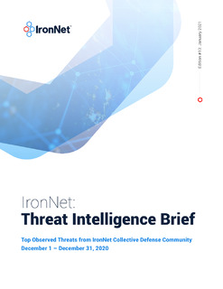 IronNet: Threat Intelligence Brief