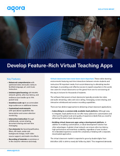 Develop Feature-Rich Virtual Teaching Apps