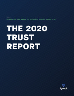 2020 Trust Report: Measuring the Value of Security Amidst Uncertainty