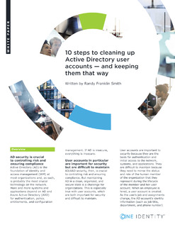 10 Steps to Cleaning Up Active Directory User Accounts — and Keeping Them That Way