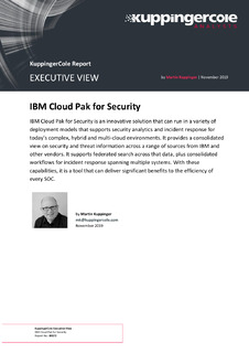 KuppingerCole Executive View IBM Cloud Pak for Security