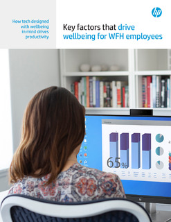 Key factors that drive wellbeing for WFH employees