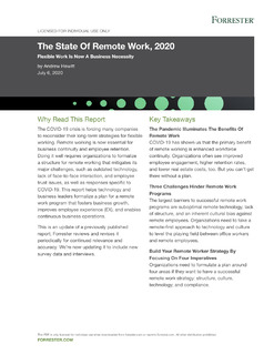 The State Of Remote Work, 2020