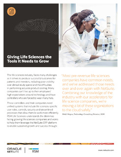 Using ERP to Accelerate Growth in the Life Sciences Market