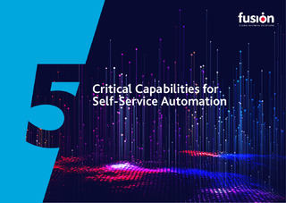 Critical Capabilities for Self-Service Automation