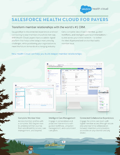 Salesforce Health Cloud For Payers