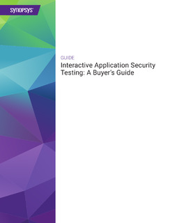 Interactive Application Security Testing: A Buyer's Guide