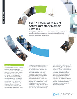 The 12 Essential Tasks of Active Directory Domain Services